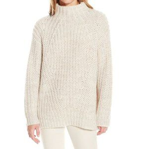 OLIVE + OAK Ivory Mock Neck Knit Sweater #GG03